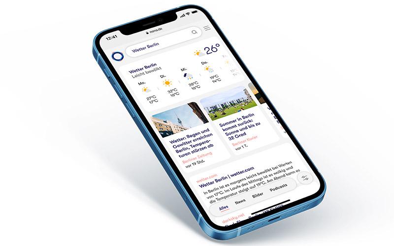 Nona Website auf Smartphone 01